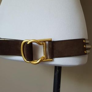 Belt Matte Gold Tone Buckle 42 Inches Long